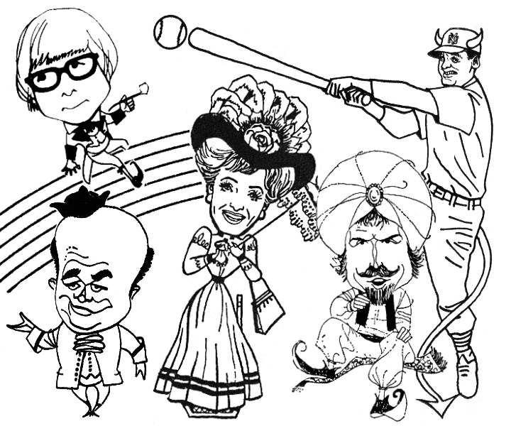 Melody Top Ad Caricatures