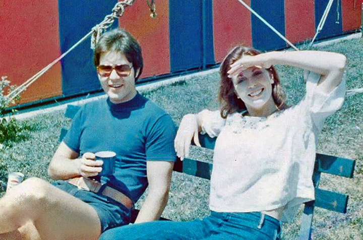 Robb Alton and Didi Hitt, Relaxing on a Break Outside of Melody Top Theatre