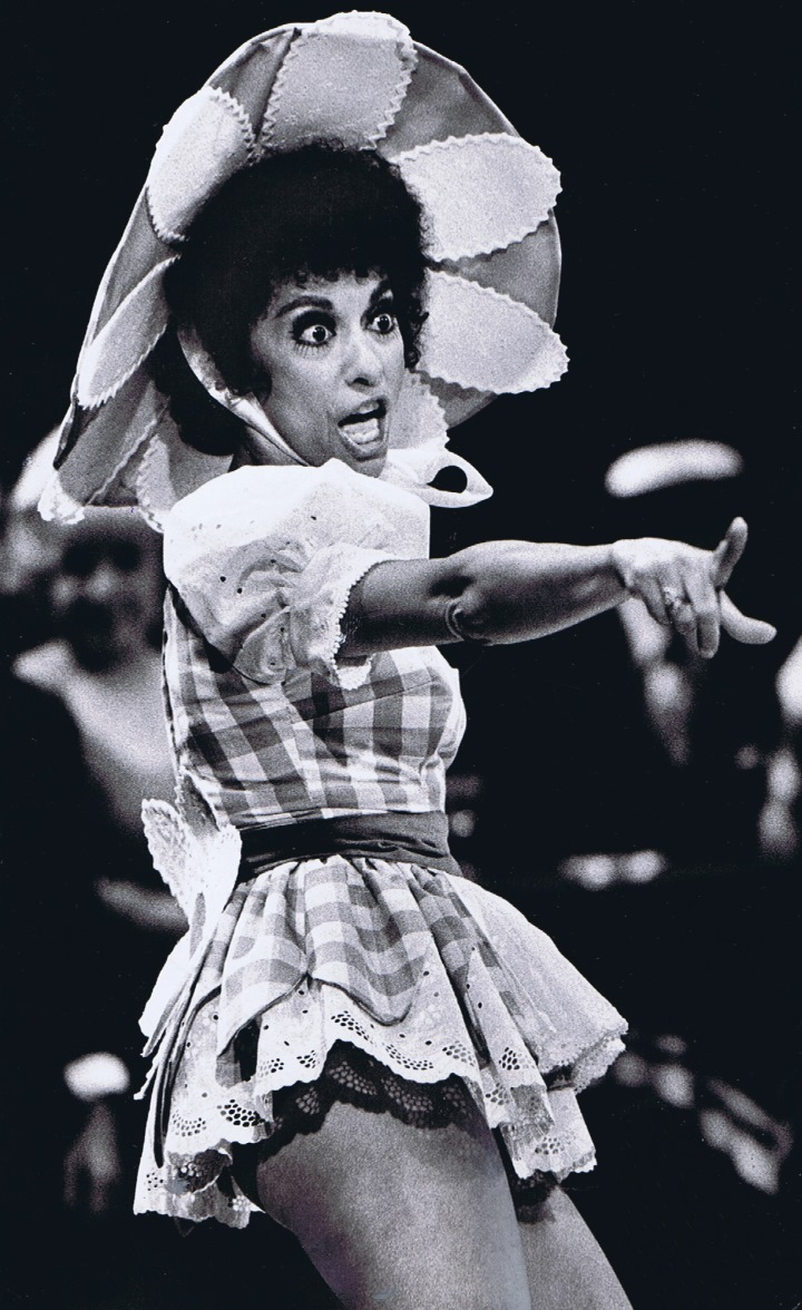 Rita Moreno as Miss Adelaide in GUYS AND DOLLS (1974).