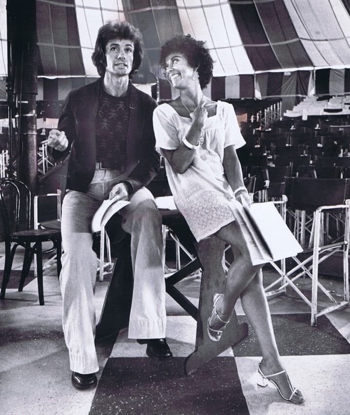 George Chakiris and Rita Moreno in Rehearsal for GUYS AND DOLLS.