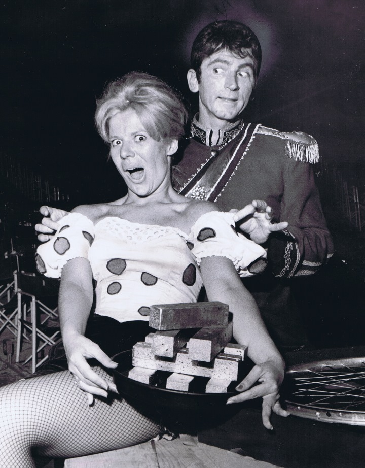 Karen Morrow and Gabriel Dell in the Monte Carlo casino scene from LITTLE ME (1964) at Melody Top.
