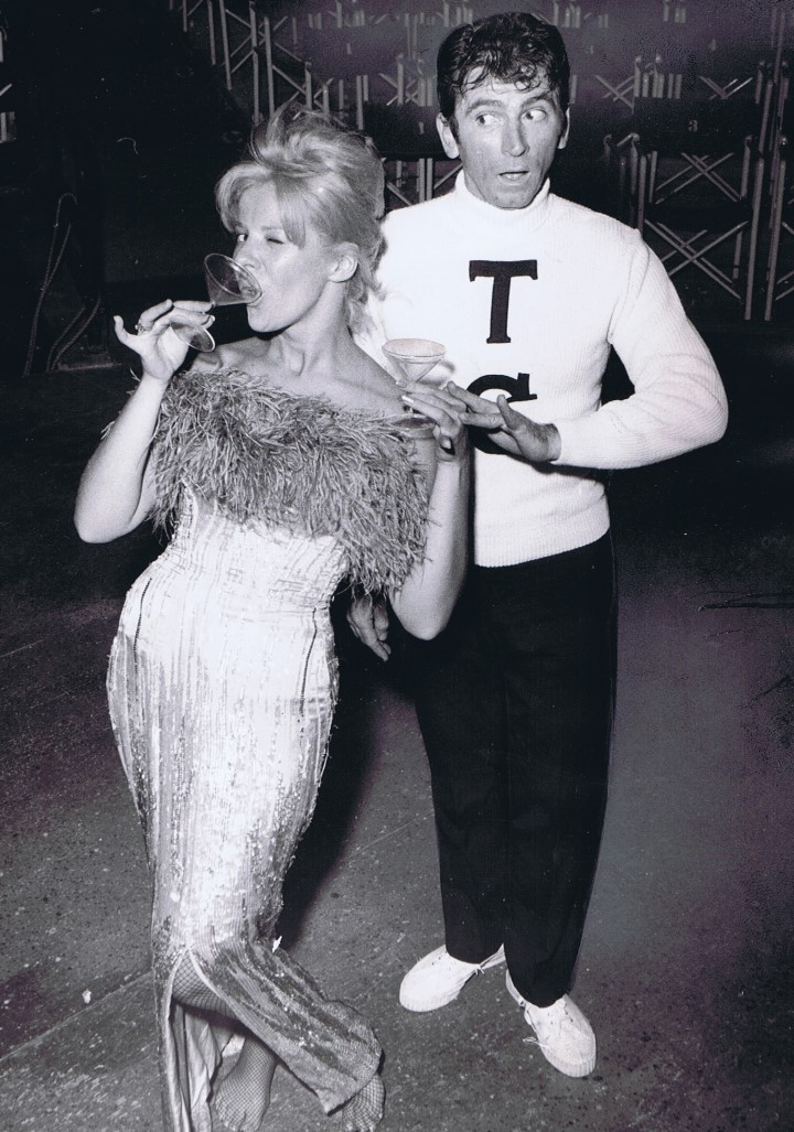 Karen Morrow and Gabriel Dell in a publicity photo for LITTLE ME (1964) at Melody Top.