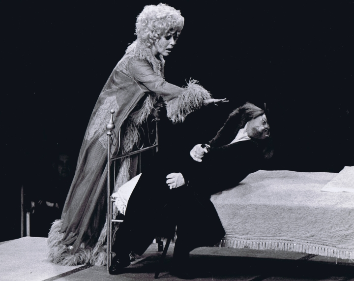 Karen Morrow and Arte Johnson perform in LITTLE ME (1972) at Melody Top.